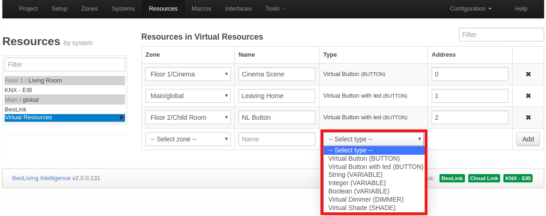 Virtual resources