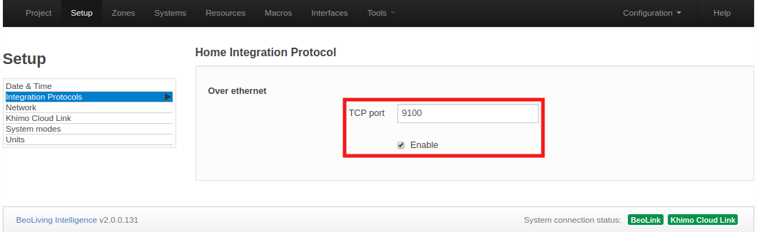Integration protocols page